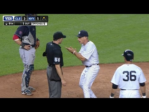 Girardi gets tossed after McCann's strikeout