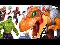 Jurassic World 2 Fallen Kingdom Dinosaur T Rex Appeared Marvel Avengers Hulk Go DuDuPopTOY mp3