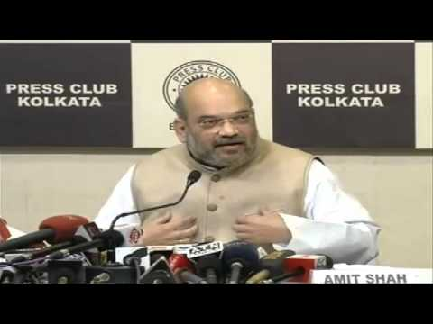 Press Conference by Shri Amit Shah at Press Club, Kolkata : 29.3.2016