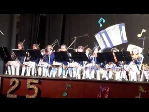 Concierto escuela de música colegio la presentación mi Juanis en el violín