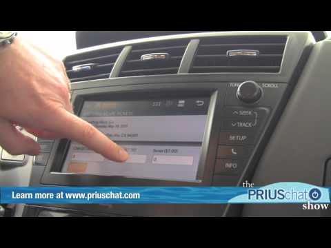 2012 Toyota Prius v Video Demo - Entune Audio System