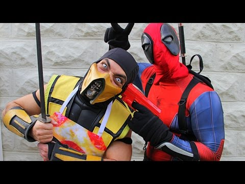 Scorpion & Deadpool Make Pizza! (Cooking With Scorpion!) Mortal Kombat