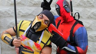 Scorpion & Deadpool Make PIZZA! (Cooking With Scorpion!)