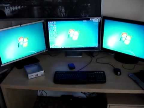 Triple Monitor Set Up On A Single Video Card Youtube