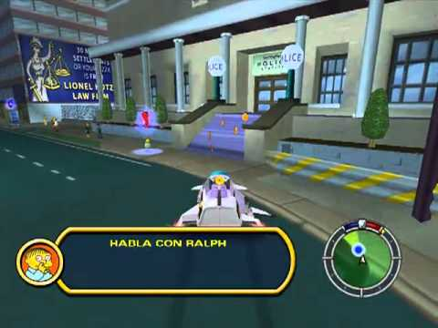 Lets Play Simpsons Hit & Run 4 - Dia en las carreras