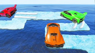 Make The SLIPPERY ICE Course CHALLENGE! (GTA 5 Funny Moments)