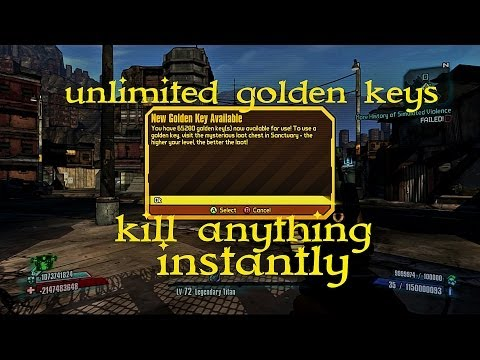 Borderlands 2 - unlimited golden keys - kill anything