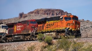 [HD] BNSF trains in the Northern Arizona Canyons! January 2018