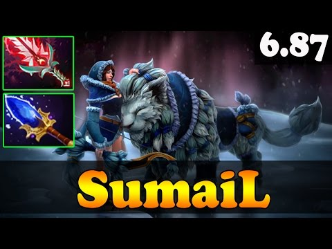 Dota 2 - Patch 6.87 SumaiL 7331 MMR Plays MIrana + Aghamin's + Bloodthorn