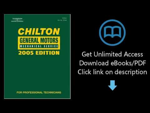 Download Chilton 2005 General Motors Mechanical Service Manual: (2001-2005) (Chilton General Mot PDF