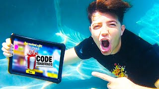 GIFTING Fortnite YouTubers while UNDERWATER!