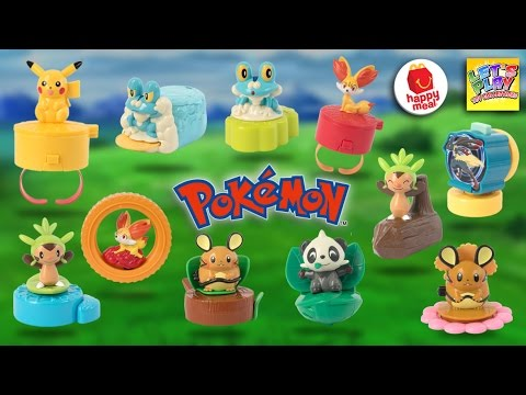 2016 Pokemon McDonald's Happy Meal Complete Set of 11 Toys