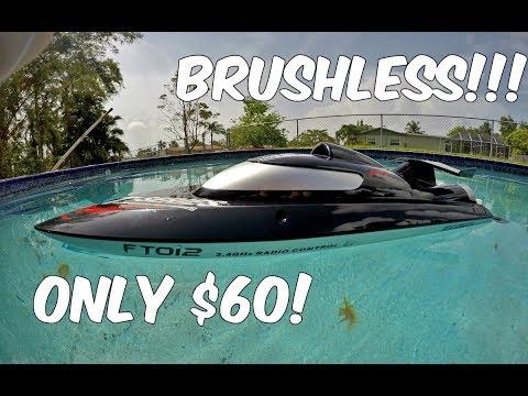 OMG! MUST SEE! Brushless RC Boat Feilun FT012 Review