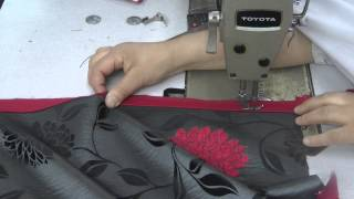 how to sew a piped cussion