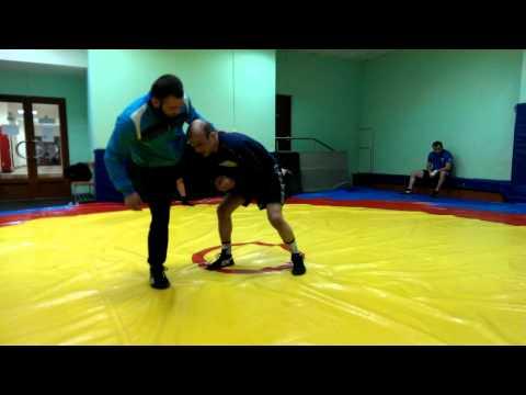 Вольная борьба - боковой проход в ногу от Османов Шамиль