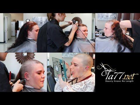 TA77.net video trailer - Brittney LV (2017) Shaves her head in a barbershop