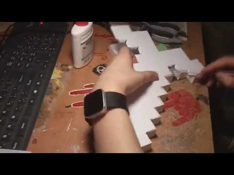 Minecraft Paper Sword hand made