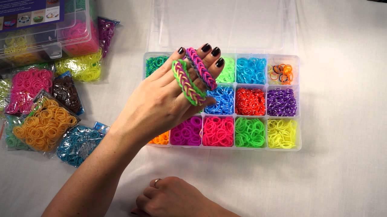 Плетение из больших резинок видео