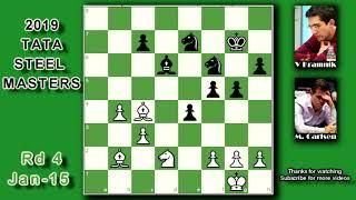 Magnus Carlsen vs Vladimir Kramnik | Tata Steel Masters 2019 Round 4