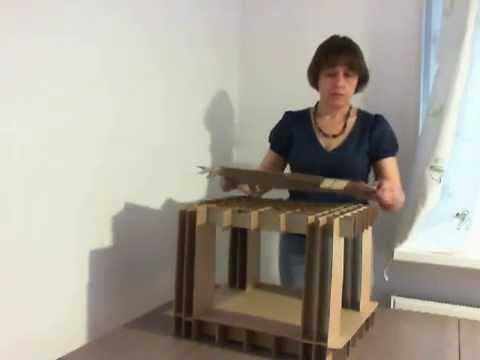 Как сделать журнальный столик из картона своими руками 65