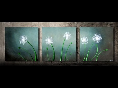 How to paint dandelions - FAST and EASY - step by step