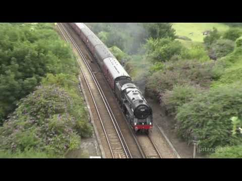 70013 'Oliver Cromwell' in charge of the Weymouth Seaside Express unassisted 4.8.2013