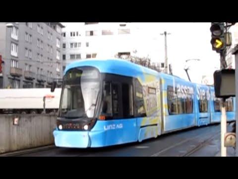Linz Straßenbahn Route 1 - Universität to Auwiesen