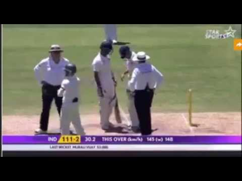 Mitchell Johnson bouncer to Virat Kohli HD - Aussies Emotional ! All players worried by incident!