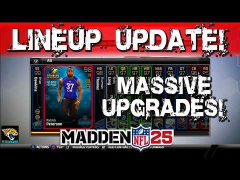 MUT 25 - 95 Overall LINEUP UPDATE! Combine Warrior Patrick Peterson + More!