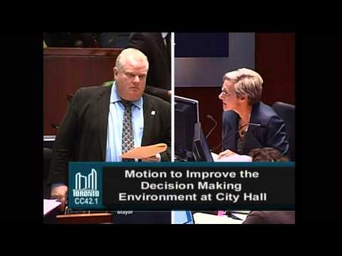 Rob Ford asks for clarification on what council is proving today.