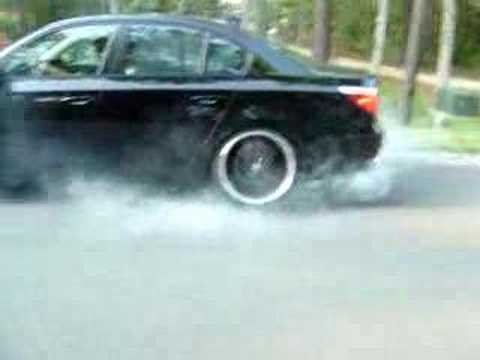2006 BMW 550i 550 Burnout Smokeout Tire