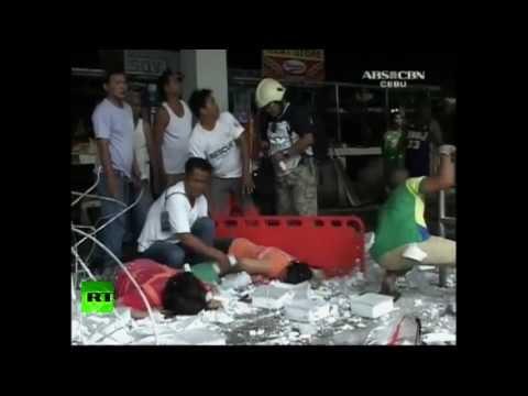 Primeras imágenes: Tres fuertes terremotos causan decenas de muertos en Filipinas