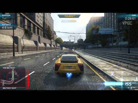 Need For Speed Most Wanted 2012 / Lexus LFA VS McLaren MP4-12C
