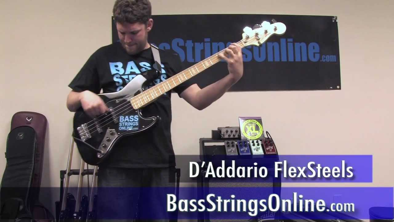Addario FlexSteels Bass Strings from BassStringsOnline.com - YouTube