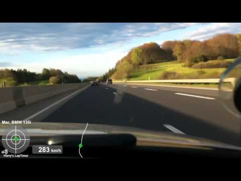 BMW 135i vs. Porsche 997 Turbo (304,4 km/h)