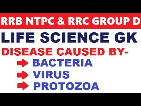 life science for rrb je,ntpc,group d | Disease caused by bacteria,virus,protozoa