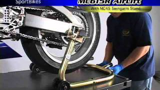 K&L MC615R 1000lb Air Lift-Swingarm Stand Demo