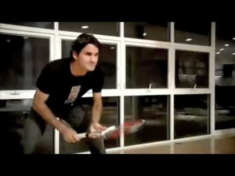 Roger Federer Tennis Battle in His House Video