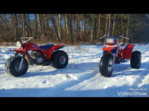 Honda ATC 185s vs. Honda ATC 200x fun on snow