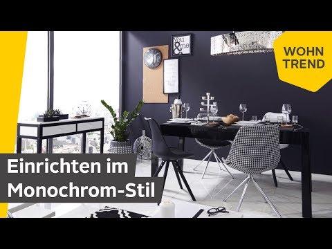 Monochrom einrichten: So wirkt der kontrastreiche Schwarz-Weiß Look | Roombeez – powered by OTTO