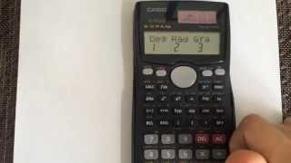 Converting from Radians to Degrees using the calculator Casio fx-991MS
