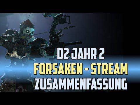 Destiny 2 Forsaken - Jahr 2 | Stream Zusammenfassung [ Deutsch / German ] thumbnail