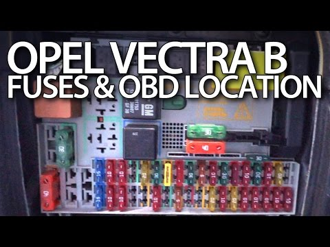 Where Are Fuses And Obd Port In Opel Vectra B (vauxhall Relays On - Wiring Diagram