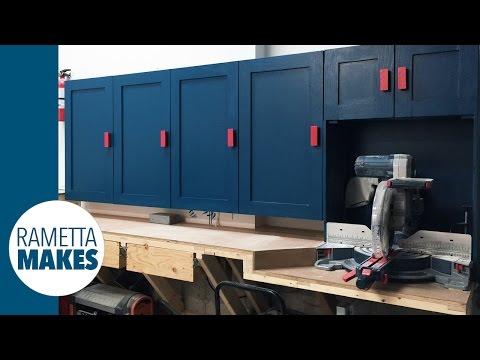 How to Build Workshop Cabinets // DIY Organization