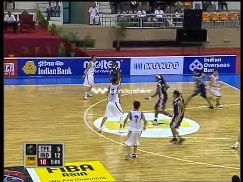 India vs. Chinese Taipei (Women's Basketball) Part 1 - FAWC 2009