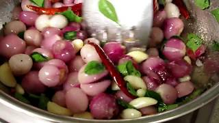 Small Onion Chutney Recipe | Side Dish for Dosa | VILLAGE FOOD