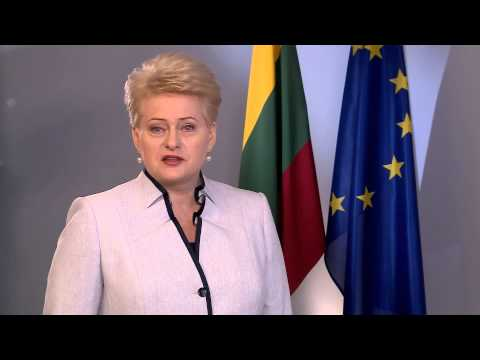 Lithuanian President Dalia Grybauskaite greets Ukrainians with Independence Day in Ukrainian