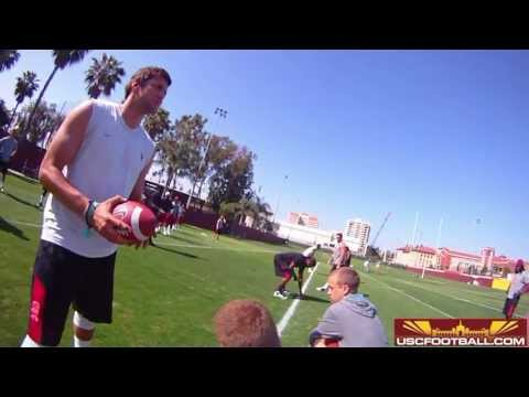 Full length Max Wittek HeadCam from USC summer workouts 5/1/13