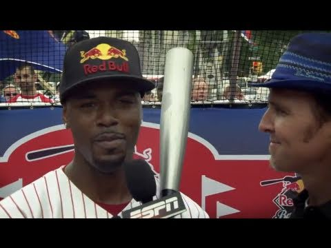Longest batted ball attempt - Jimmy Rollins - Red Bull Ball Park Cranks