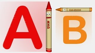 ABC Crayons Teach the Alphabet
